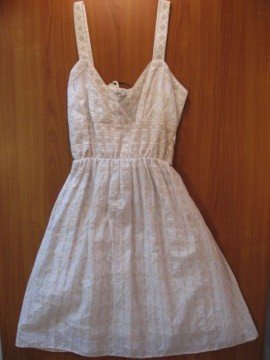 White Cotton Petite Dress
