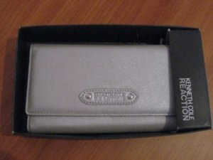 Silver Leather Purse from Kenneth Cole