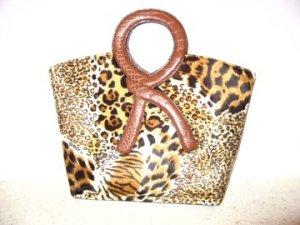 African Leopard Skin Patern Handbag by Vani