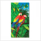 Jungle Parrot Beach Towel
