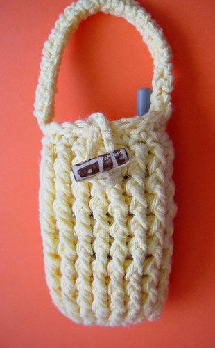 Yellow Cellphone Case with Strap