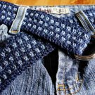 Crocheted Denim Belt