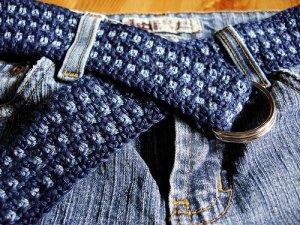 Crocheted Denim Belt