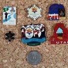 2002 Olympics Salt Lake City Utah Pins Lot of 6