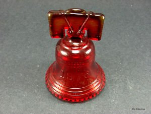 Joe St. Clair Glass Art Liberty Bell Red
