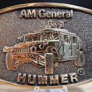 Brass Belt Buckle BTS AM General Hummer M998 Made In USA