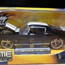 1967 Shelby GT-500 Bigtime Muscle Jada 1:24 Scale Diecast Black White