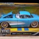 1957 Chevrolet Corvette Bigtime Muscle 1:24 Scale Diecast Light Blue