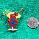 Hard Rock Cafe Key West Margarita Glass with Lime and Guitar Pin