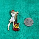 Hard Rock Cafe Hollywood Waitress with Red Stratocaster Guitar Pin