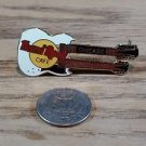 Hard Rock Cafe Chicago White Double Neck Guitar Pin