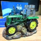 Salt and Pepper Shaker Set Green Farm Tractor