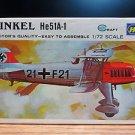 Hasegawa Heinkel He51A-1 Bi-Plane Model Kit 1:72
