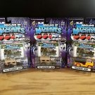 Muscle Machines Military Jeep Lot of 3 1:64