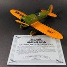 1929 Travel Air Model R Diecast Airplane Bank U.S. Air Mail #101