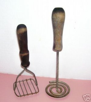 VINTAGE KITCHEN UTENSILS ANTIQUE MASHERS PRIMITIVE OLD