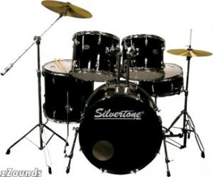 Silvertone SDK5 Complete 5-Piece Drum Kit