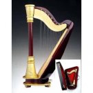 Harp Wooden Miniature Musical Instrument with Case