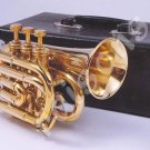 New Brass B flat Pocket Trumpet  w Case