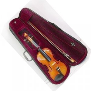 Austin Bazaar Full Size Violin 4 X 4 with Case - Natural Color