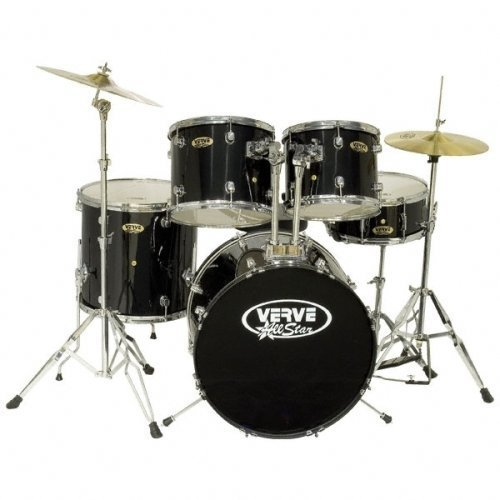 Verve All Star 5 Piece Drum Set *** Color * Black