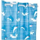 Dolphins Vinyl Hookless Shower curtain