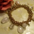 Gold Pearl Beaded Bracelet-25333