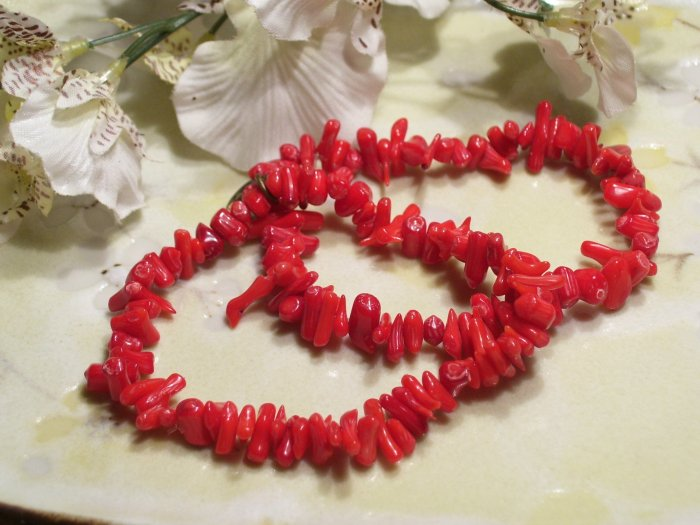 Red Coral Bracelet set of 2-40303