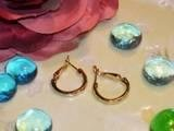 Gold Hoop Earrings-25531