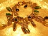Gold with Green crystal bracelet-75077