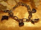 Silver Diva charm bracelet-89228