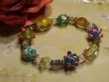 Blown glass bracelet-89340-L