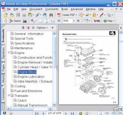PONTIAC GTO 2004 2005 REPAIR SERVICE MANUAL