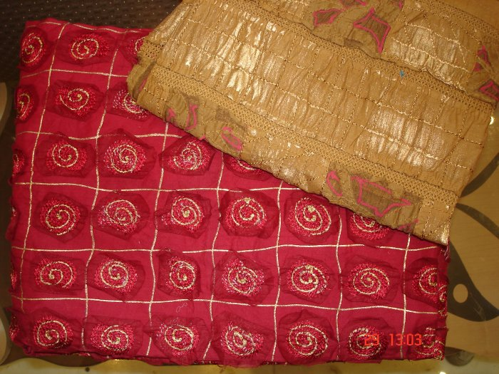T-292: Salwar Kameez Semi Silk Designer Suit Material