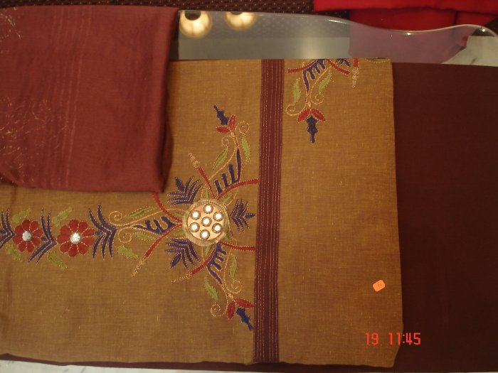 T-352: Cotton Kameez with embroidery