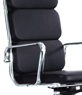 Charles Eames Inspired Real Leather Office Chair - FREE SHIPPING TO MAINLAND UK