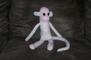 Shasta the Striped Sock Monkey