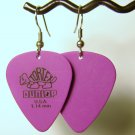 Guitar Pick Earrings- Simple Turtle- Purple