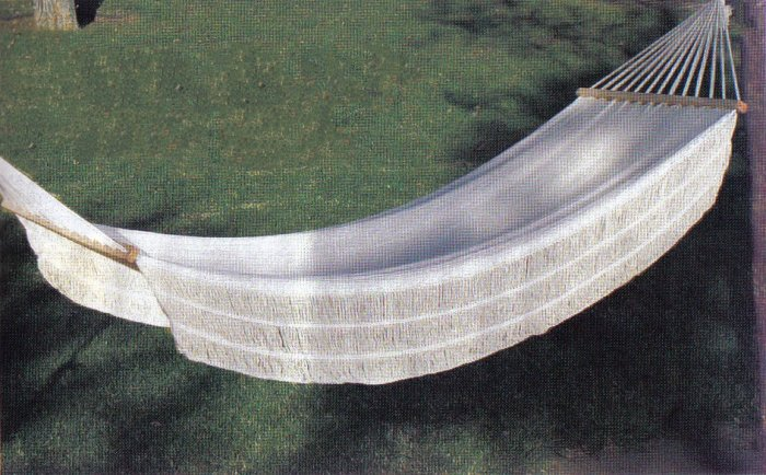 Single Person White Hammock