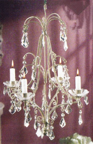 Elegant White Chandelier Candle Holder