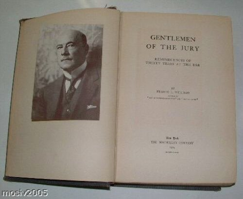 GENTLEMENT OF THE JURY by F. Wellman 1924