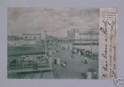Vintage Postcard 1905 Boardwalk & Pier Atlantic City NJ