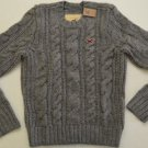 M195 New Mens sweater HOLLISTER Size L Crewneck MSRP $150.00