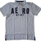 J021 New Men's Polo shirt AEROPOSTALE Size XL White