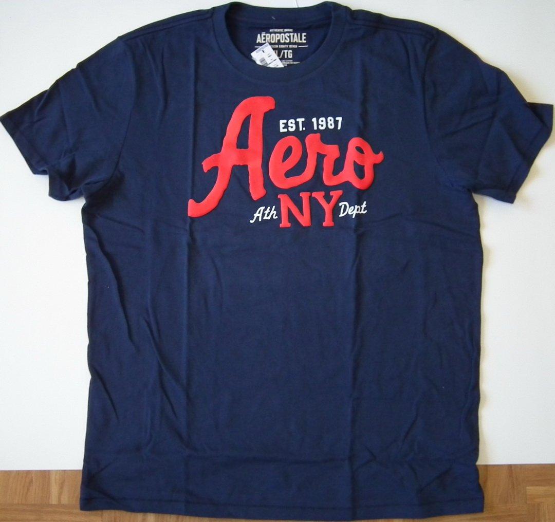 J230 New Men's T-shirt AEROPOSTALE Size XL Navy