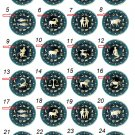 "Take any 3 1.25 inch Pinback Button Badge Zodiac Actrology 1.25"" (Aprox. 32mm)"