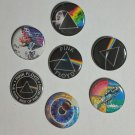 "Lot of 7 1.25"" Pinback Buttons Badges Pink Floyd (1¼"" Pins Approx. 32mm)"