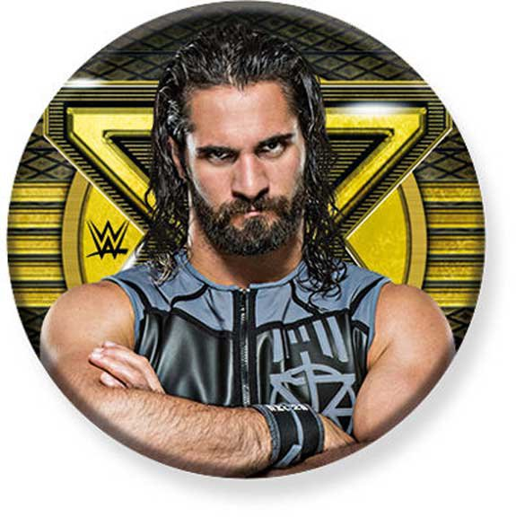 """1.25"""" Pinback Button Badge WWE - Seth Rollins 1 1/4"""" Rd. Button 'Buy 2 Get 1 Free'"""