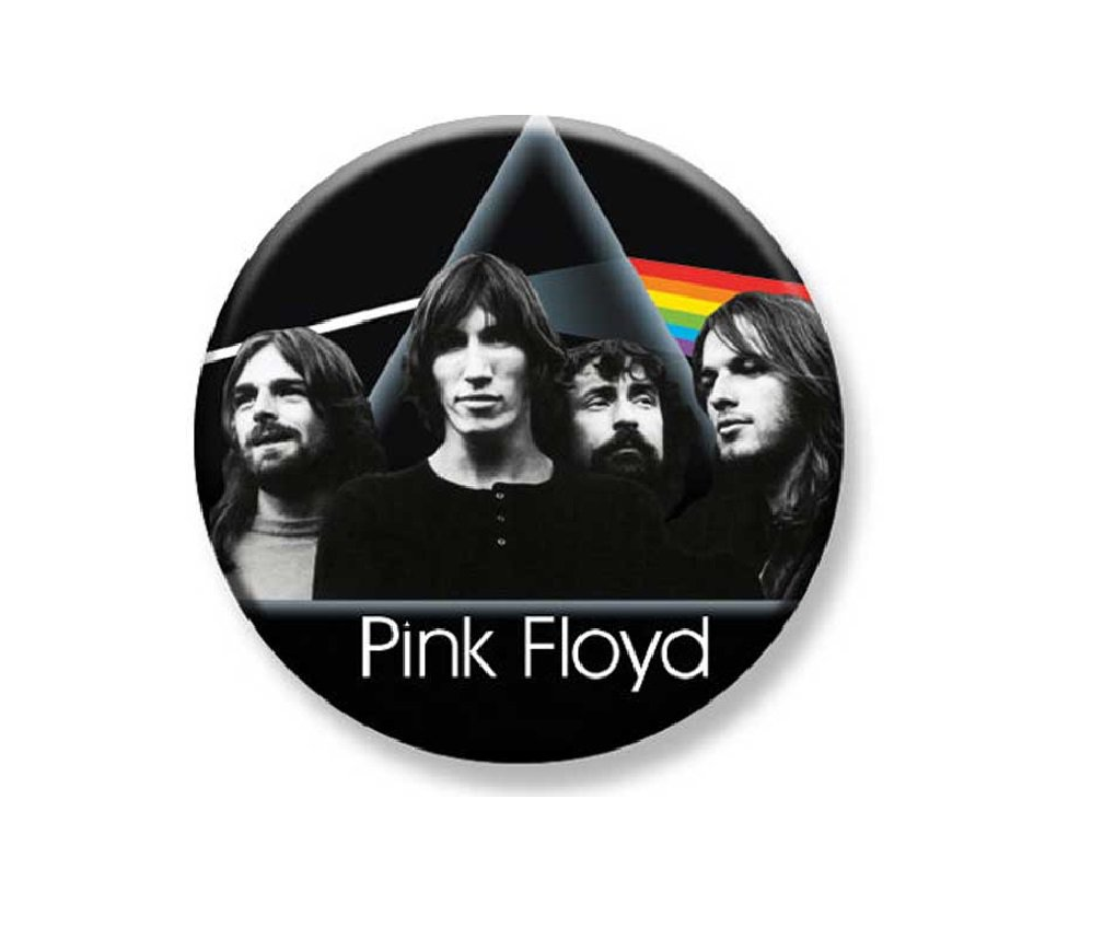 "1.25"" Pinback Button Badge Pink Floyd Dark Side Group 1 1/4"" Rd. Button"