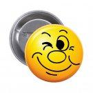 """1.25"""" Pinback Button Badge Emoji Smiley Face #2 'Buy 2 Get 1 Free'"""